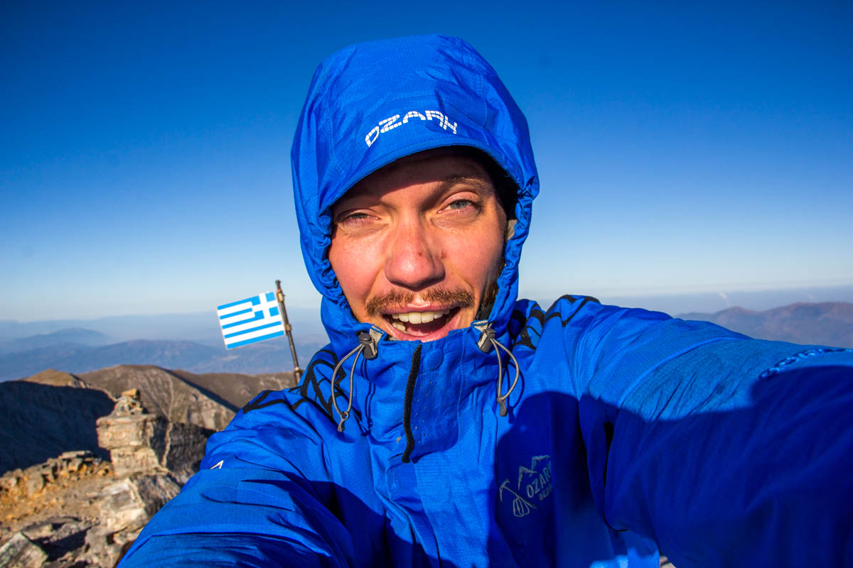 Made it! Top of Mytikos, the highest point of Mount Olympus!
