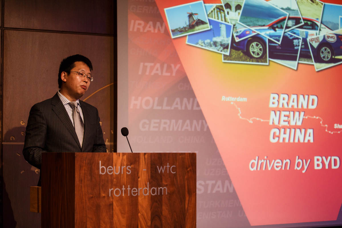 Also Mr. Wang from Huawei welcomed us in Rotterdam